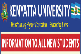 INFORMATION TO ALL NEW STUDENTS