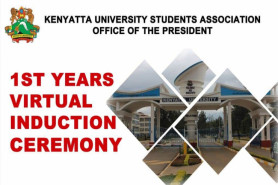 KENYATTA UNIVERSITY KUSA 1ST YEARS VIRTUAL INDUCTION CEREMONY