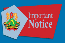 NOTICE TO ALL 1ST YEAR STUDENTS IN ALL SCHOOLS EXCEPT SCHOOL OF