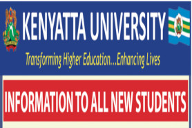 TO ALL NEWLY ADMITTED STUDENTS FOR THE MAY 2019/2020 AND SEPTEMBER 2020/2021