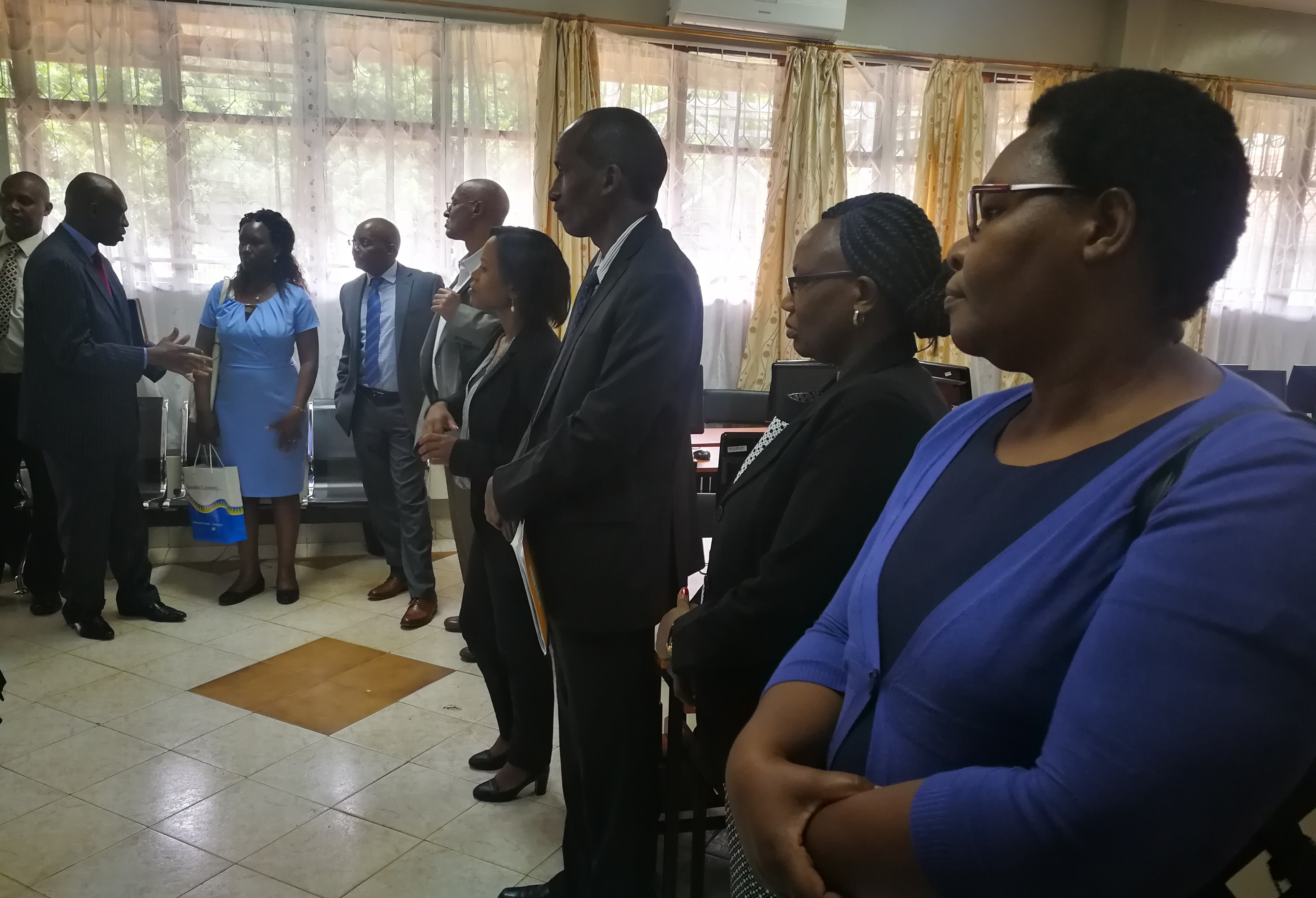 A visit to Kenyatta University by the African Development Bank(AFDB) and African Virtual University (AVU) teams on a supervision mission of the AVU multinational project II where Kenyatta University partnered with AVU and benefitted from the African devel