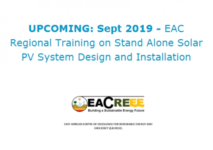 EAC Regional Training on Stand Alone Solar PV System Design and Installation
