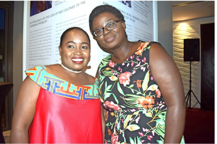 GLADYS MOSOMTAI , KENYATTA UNIVERSITY ALUMNI RECEIVES AN AWARD  DURING  THE L'OREAL-UNESCO WOMEN IN SCIENCE AFRICA FELLOWSHIP AWARD CEREMONY