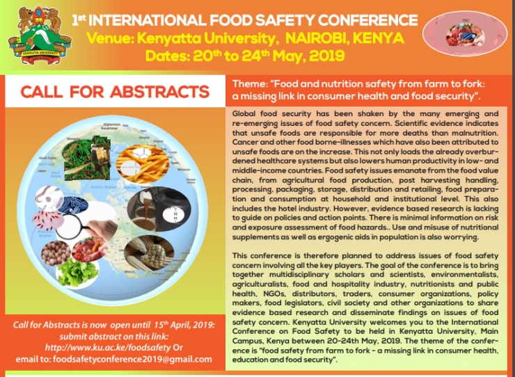 1st International Food Safety Conference
