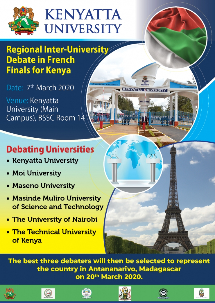 Regional Inter-University Debate in French Finals for Kenya