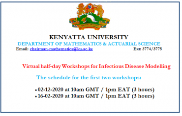 Virtual half-day Workshops for Infectious Disease Modelling