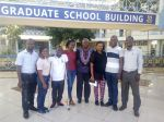 The foreign students on Intra-Africa ACADEMY Scholarship meeting with the ACADEMY Lead Coordinator KU-Chapter, Professor Chris Shisanya